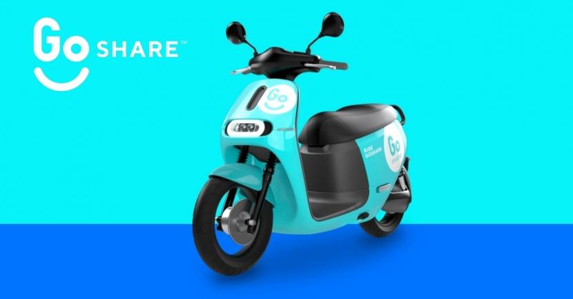GoShare 共享電動機車將在十月台北上線服務囉!