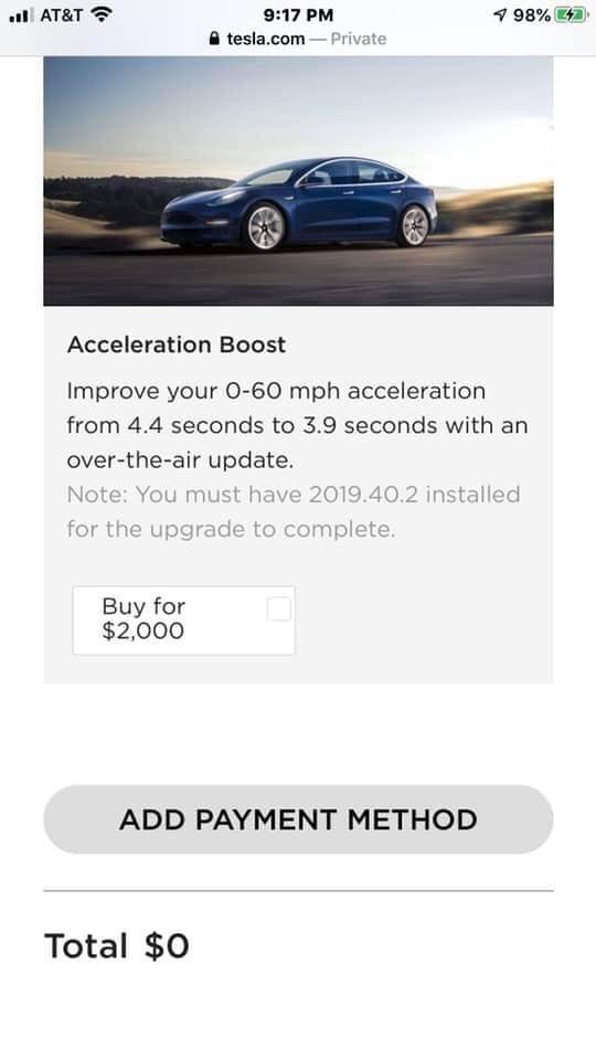快還要更快?!Model-3-驚現「加速提升」升級功能選項-2