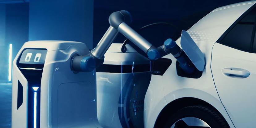 福斯打造智慧充電機器人:你只需要停好車,機器人自動過去插電幫你充-1