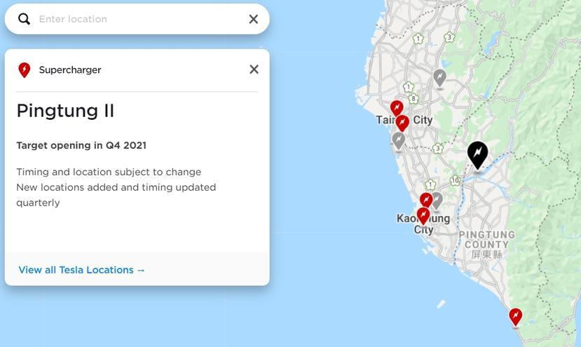 特斯拉更新超充網路地圖,即將上線的超充站地點、預計啟用時間一目了然-4