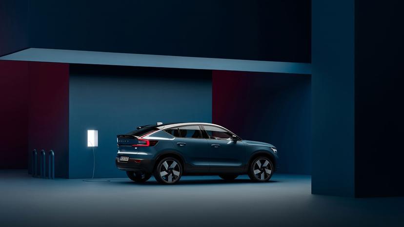 Volvo-C40-電動轎跑新發表:流線時尚的運動風格,滿電續航-420-公里能-OTA-升級-5