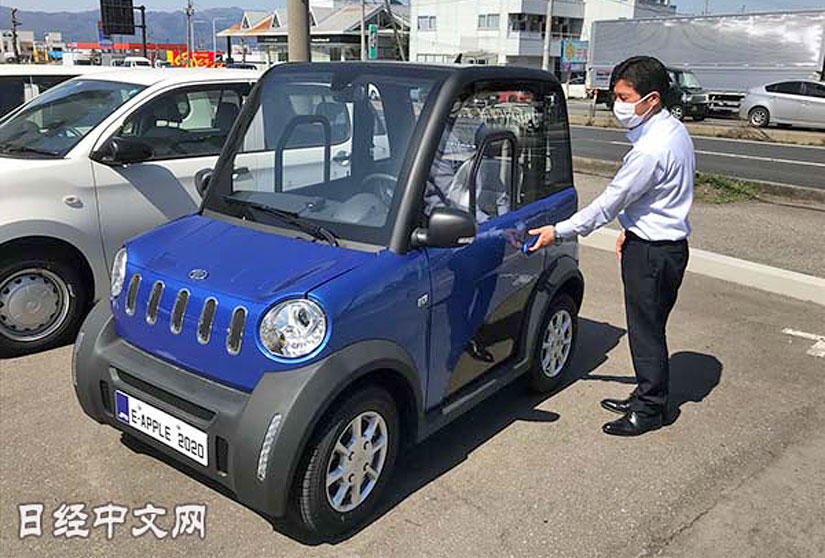 車名有亮點、售價-25-萬元起,松下在日本推「e-Apple-」超小型電動車-1