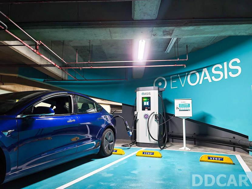 EVOASIS-台北三民家樂福快充站試營運:7-20-前充電有優惠,每度只要-5.5-元-1