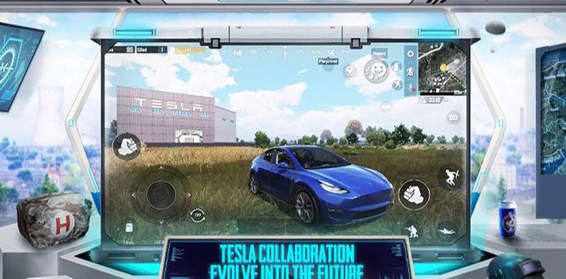 特斯拉超級工廠登陸《絕地求生》手遊,玩家可在遊戲內自行打造-Model-Y-來開-1